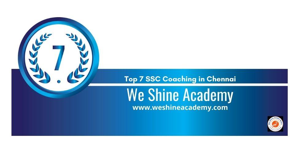Rank 7 ssc coaching centre chennai