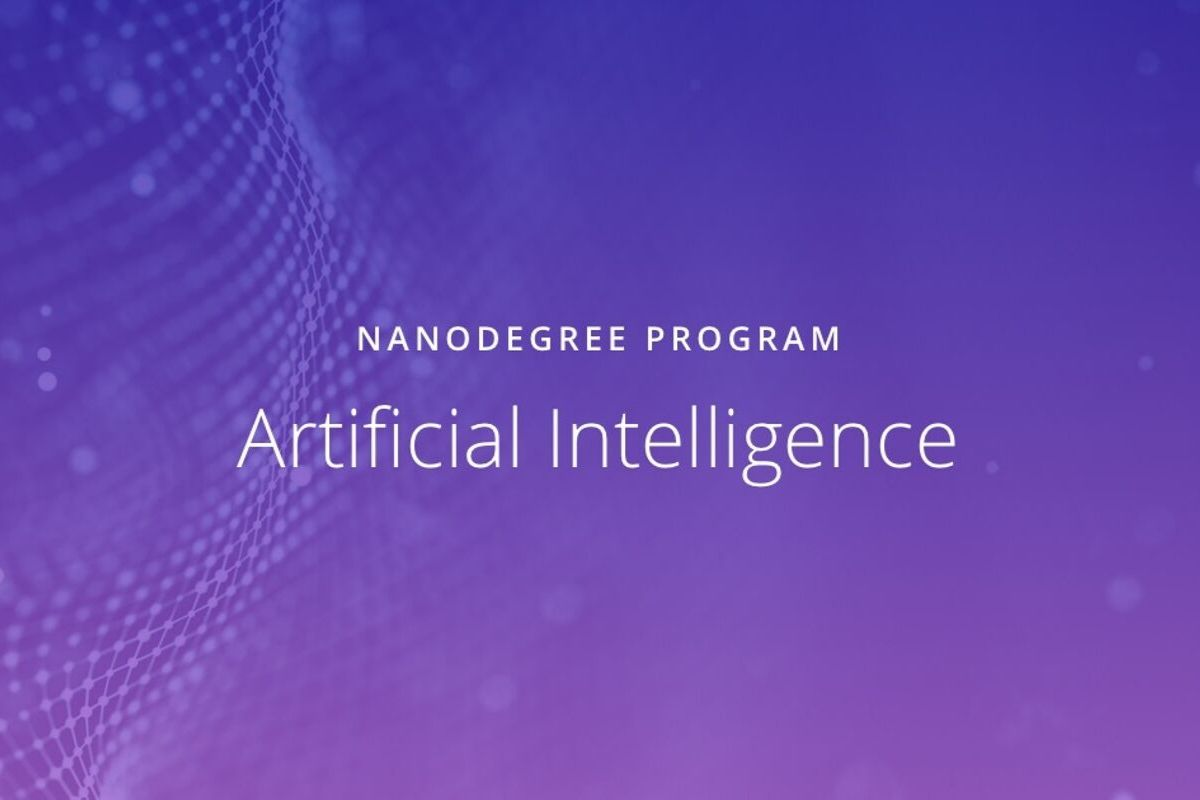 Artificial Intelligence Nanodegrees (Udacity)