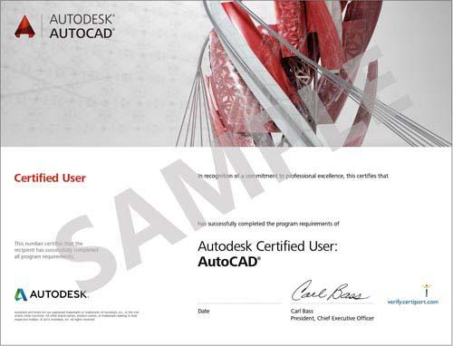 Sample Certificate AutoCAD
