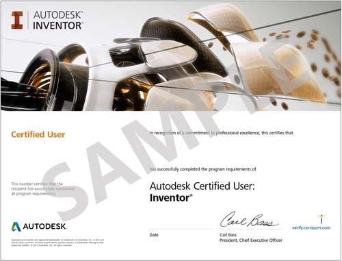 Sample Certificate Inventor