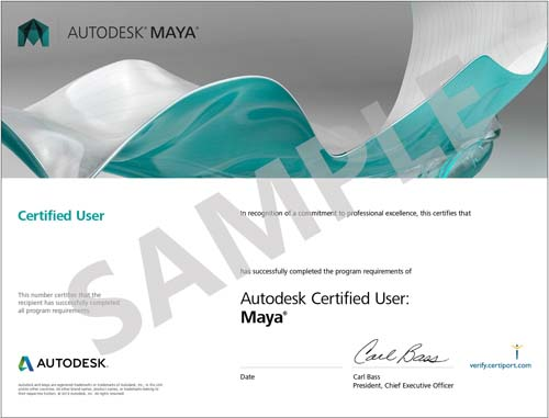 Sample Certificate Maya