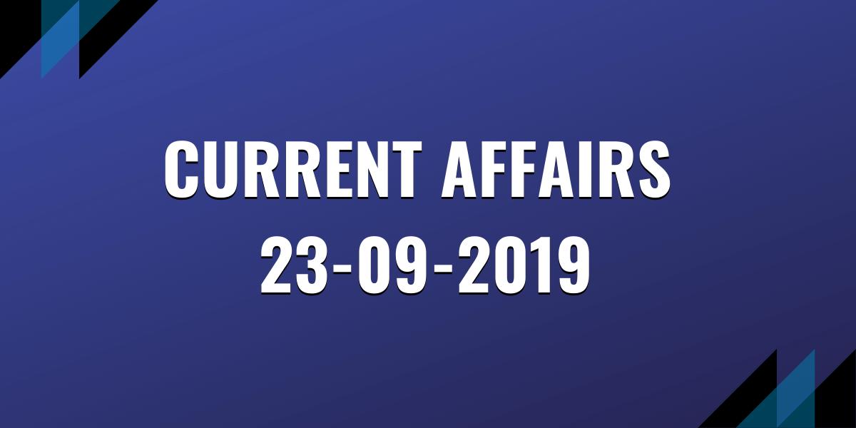 upsc exam current affairs 23-11-2019