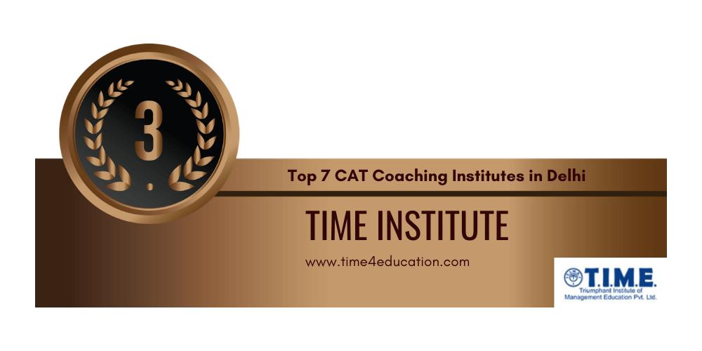 rank 3 cat preparation institutes in delhi