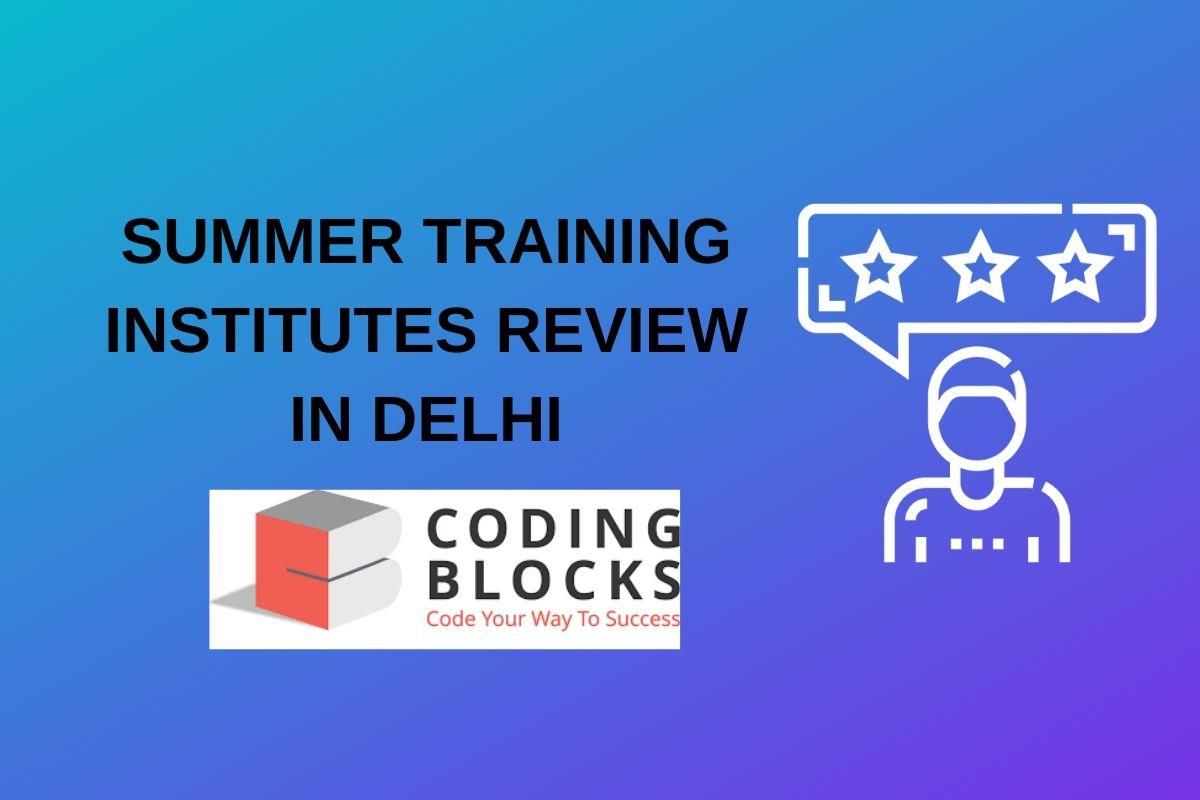 summer training coding block