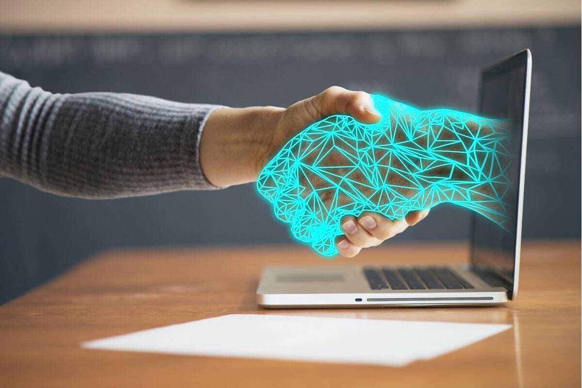 technology handshake