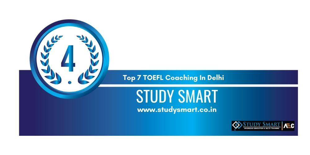 Rank 4 TOEFL Coaching In Delhi