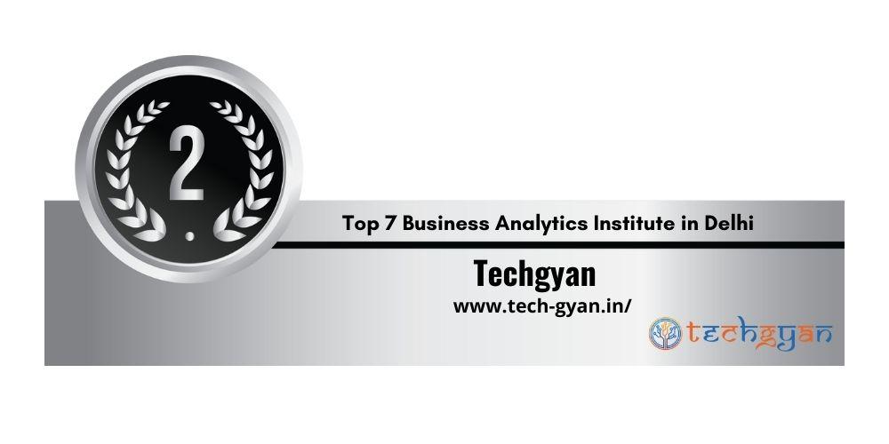Rank 2 Business Analytics Institute in Delhi