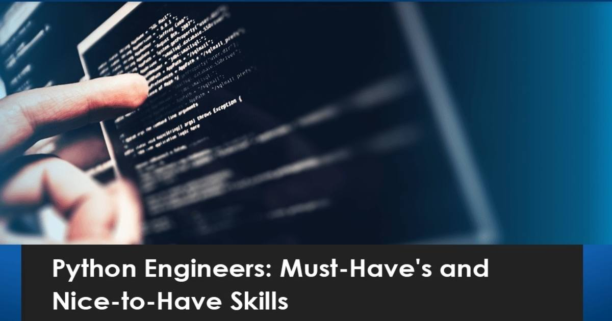 skills for Python automation engineer