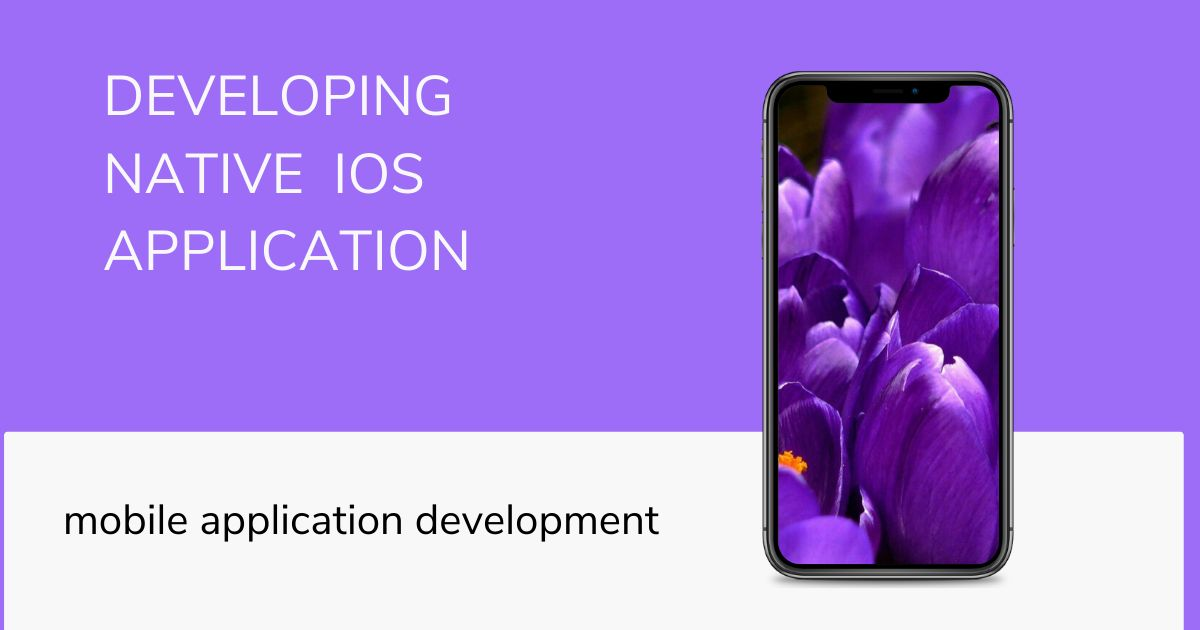 developing native ios application