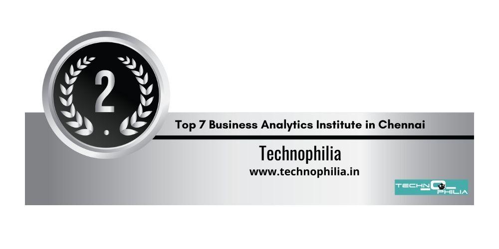 Rank 2 Business Analytics Institutes in Chennai