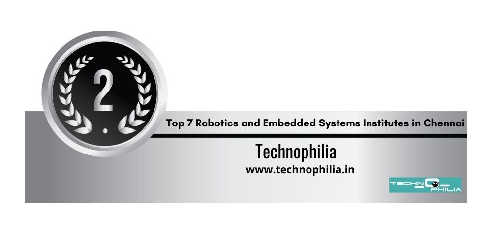 Rank 2 robotics and embedded systems institutes in Chennai