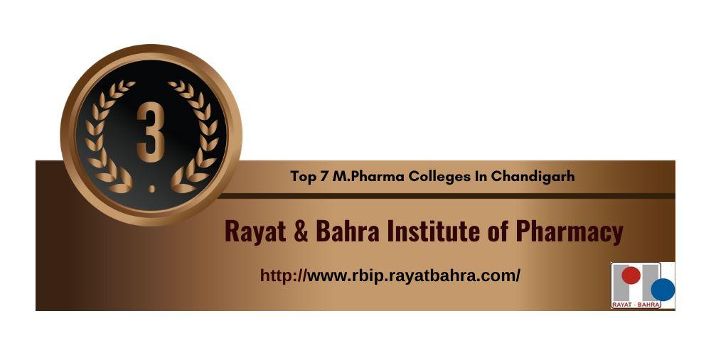 M.pharma College in Chandigarh