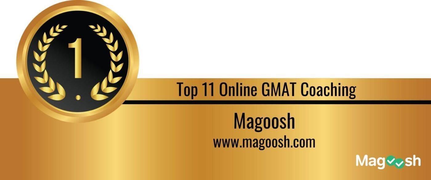 Rank 1 Top 11 Online GMAT Coaching