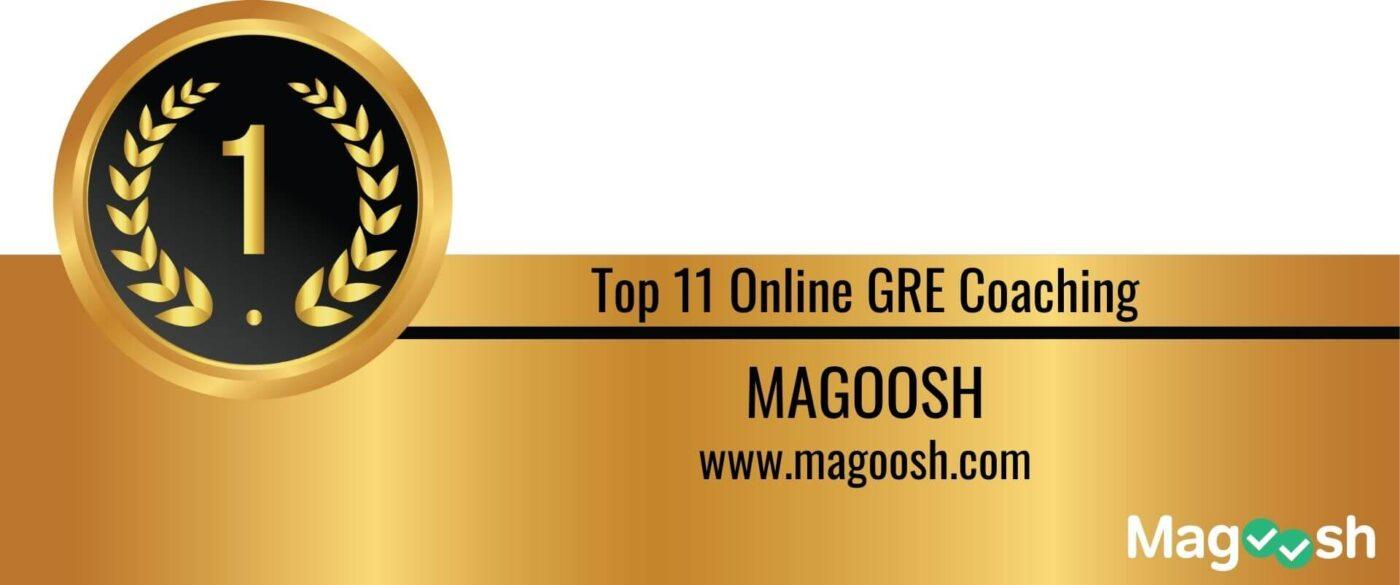 Rank 1 Top 11 Online GRE Coaching