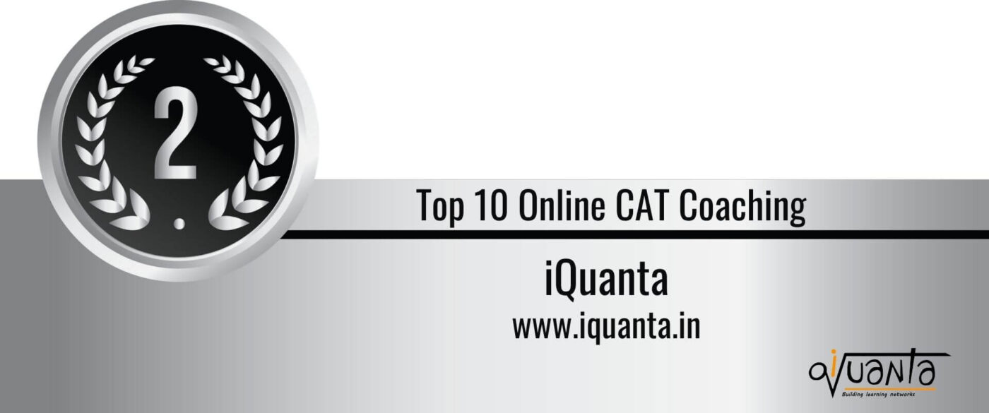 Rank 2 in the List of Top 10 Online CAT Coaching