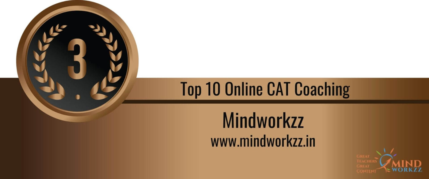 Rank 3 in the List of Top 10 Online CAT Coaching