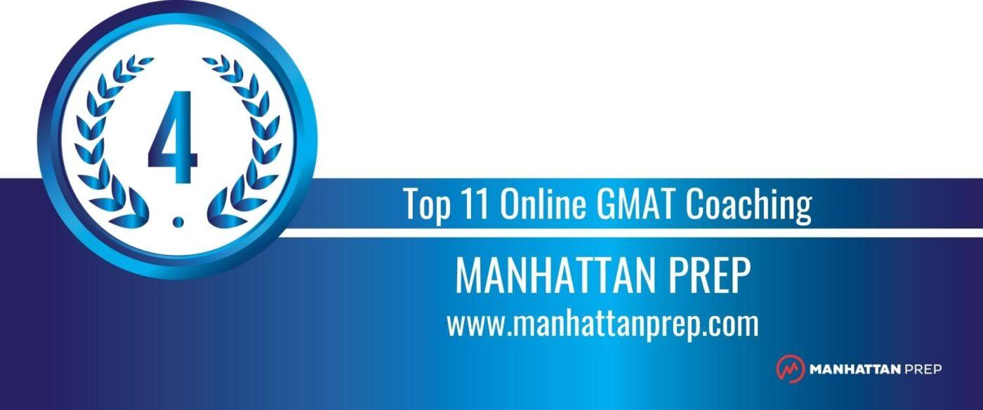 Rank 4 Top 11 Online GMAT Coaching