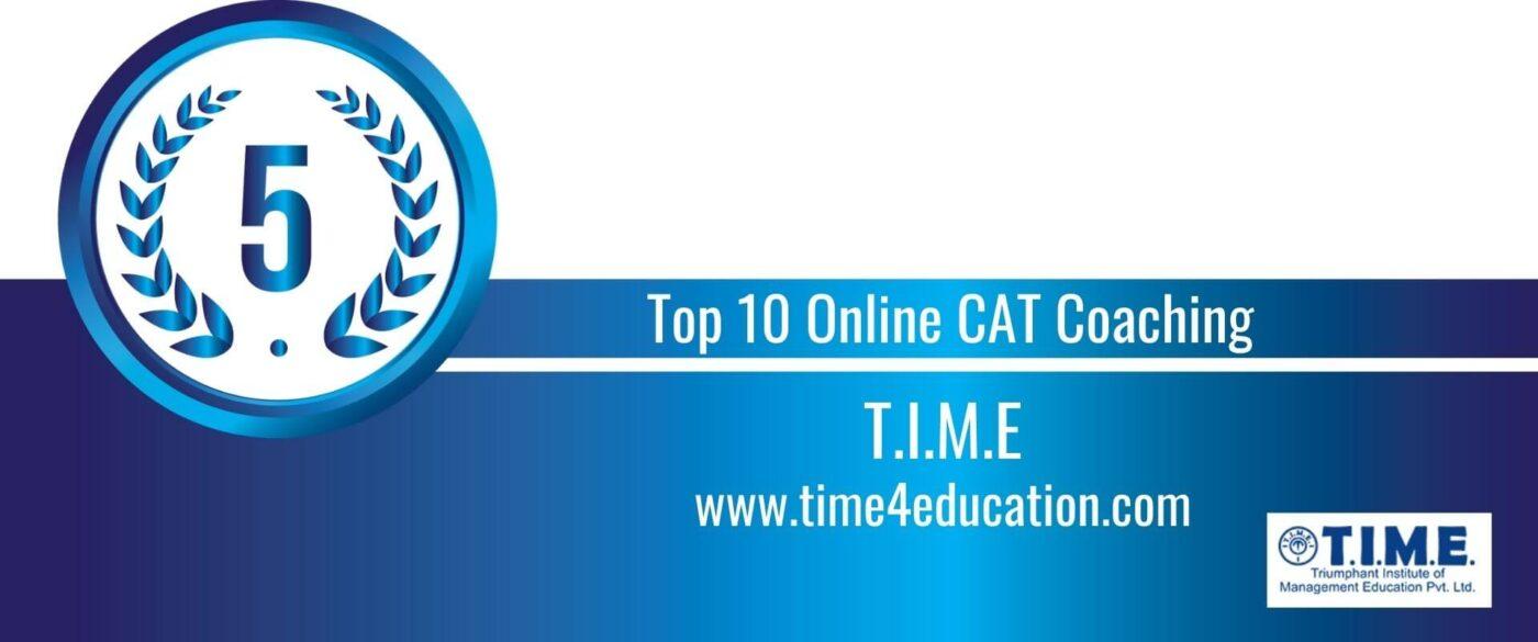 Rank 5 Top 10 Online CAT Coaching