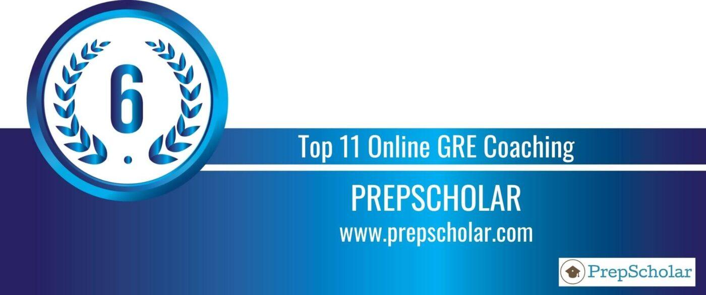 Rank 6 Top 11 Online GRE Coaching