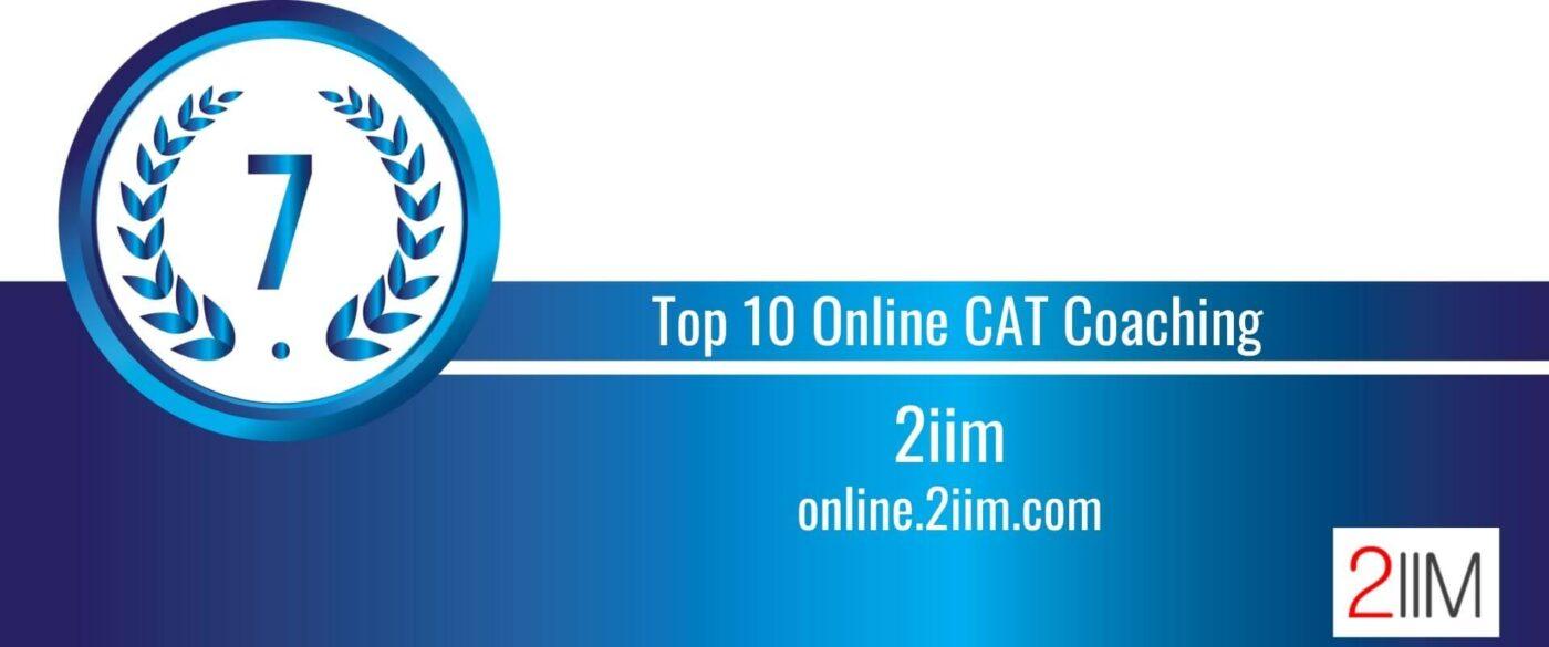 Rank 7 Top 10 Online CAT Coaching