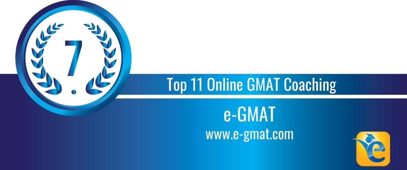 Rank 7 Top 11 Online GMAT Coaching