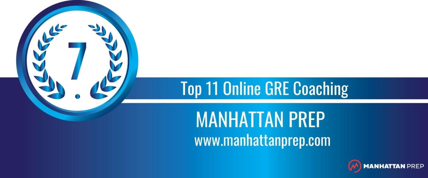 Rank 7 Top 11 Online GRE Coaching