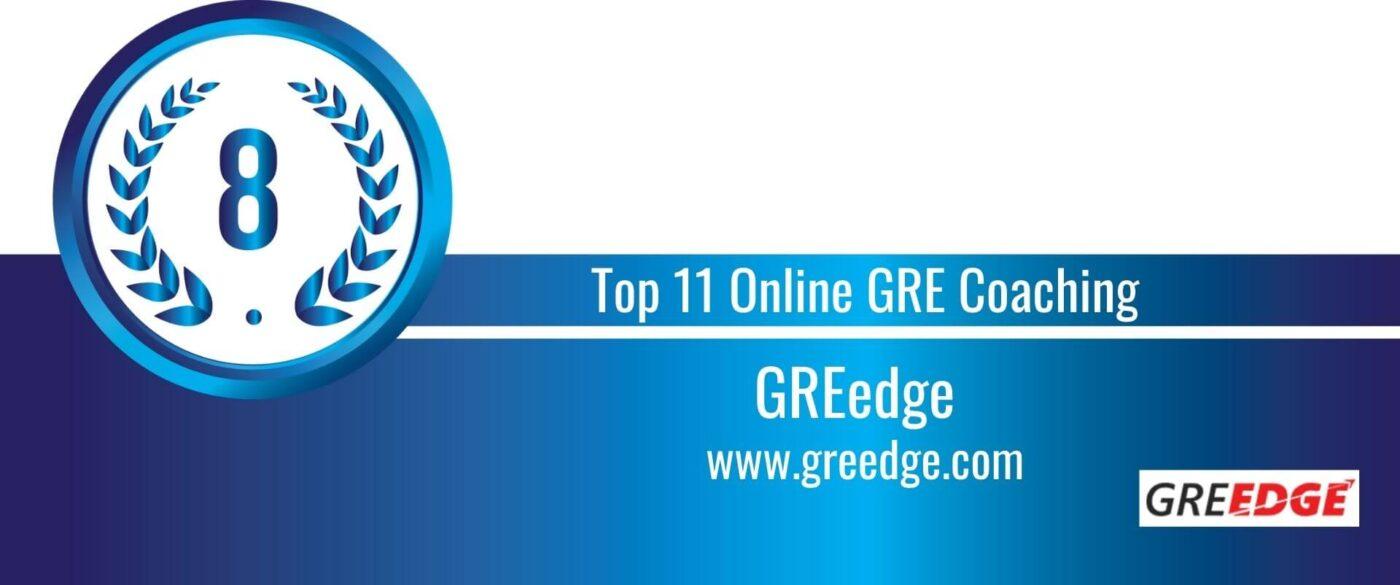 Rank 8 Top 11 Online GRE Coaching