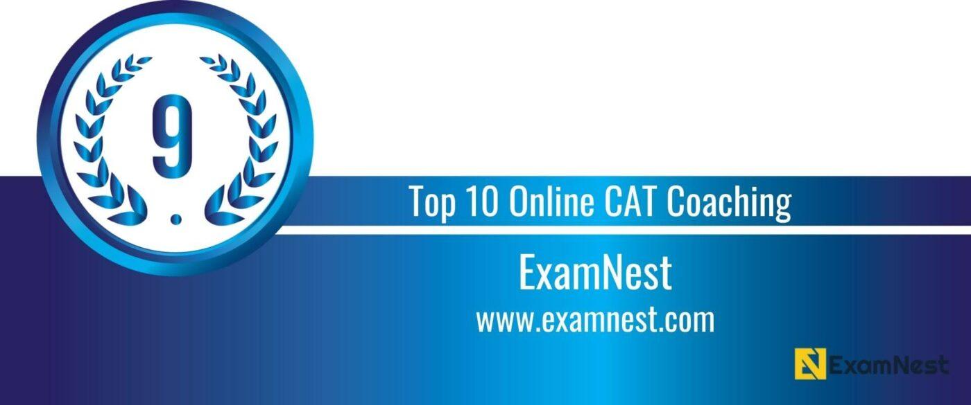 Rank 9 Top 10 Online CAT Coaching