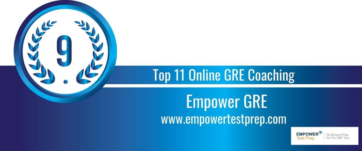 Rank 9 Top 11 Online GRE Coaching