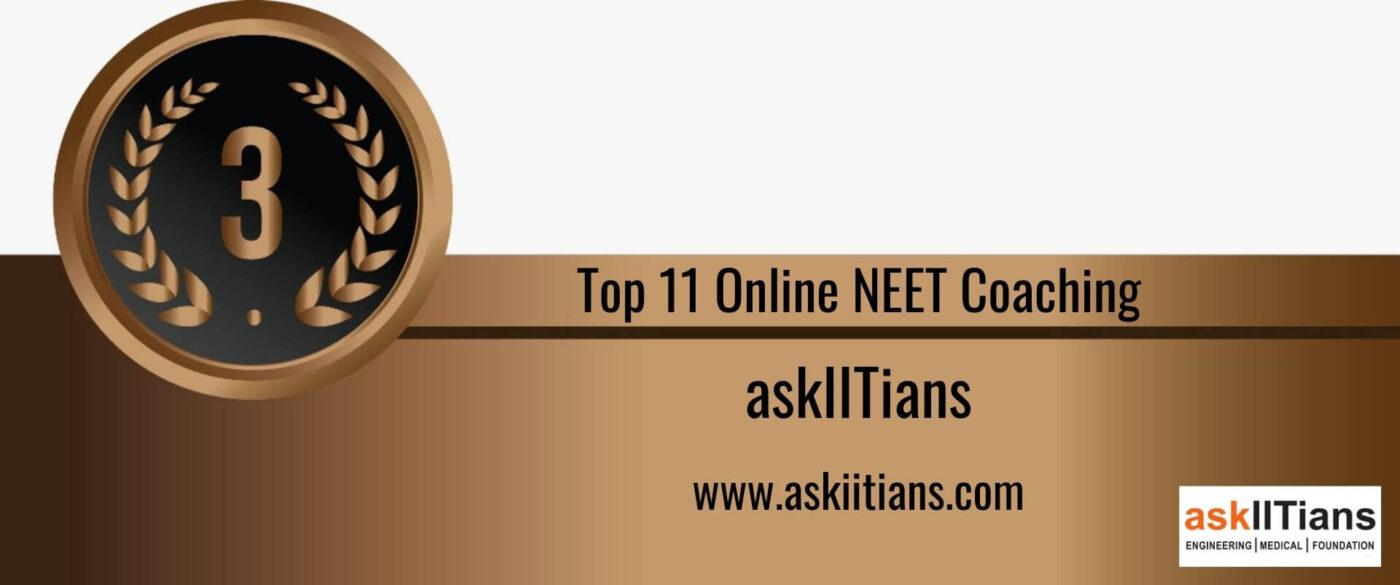 Rank 3 Top 11 Online NEET Coaching