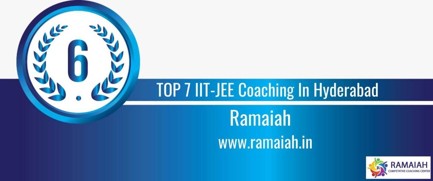 Rank 6 TOP 7 IIT-JEE Coaching In Hyderabad