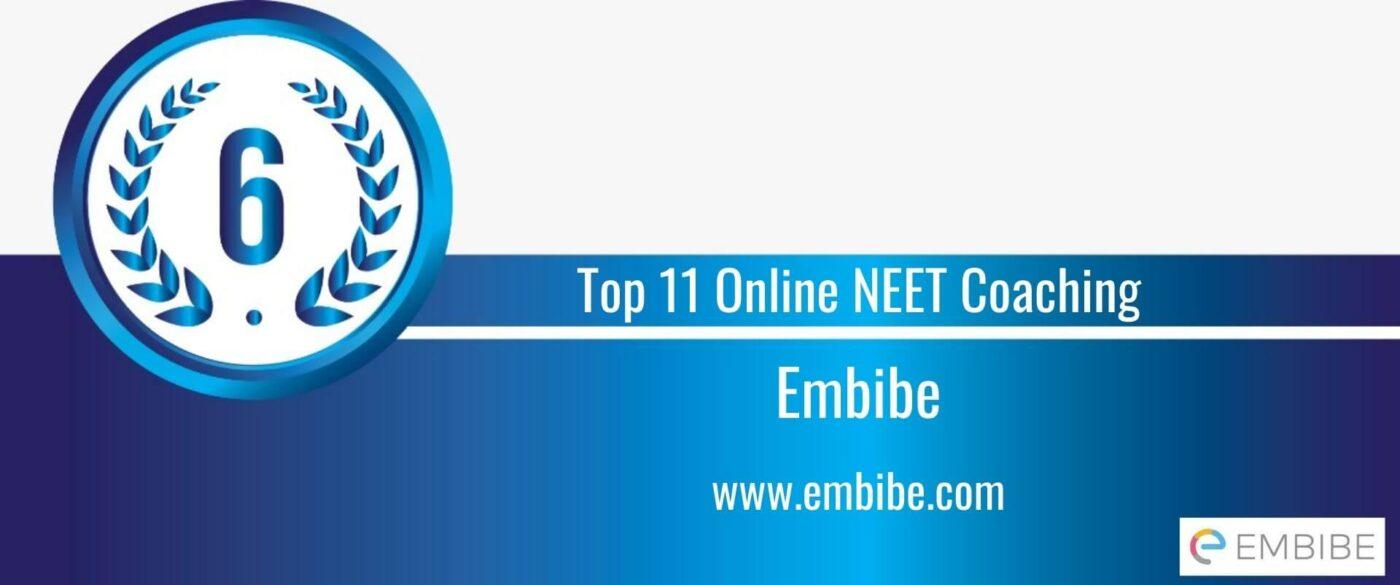 Rank 6 Top 11 Online NEET Coaching