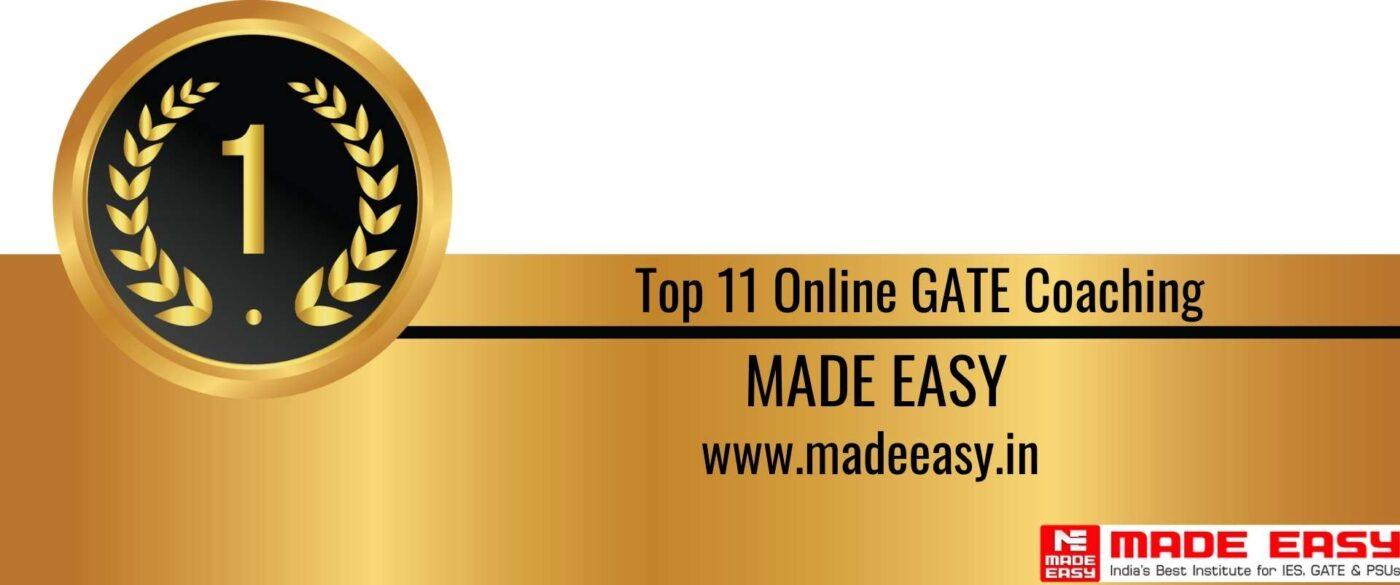 Rank 1 Top 11 Online GATE coaching