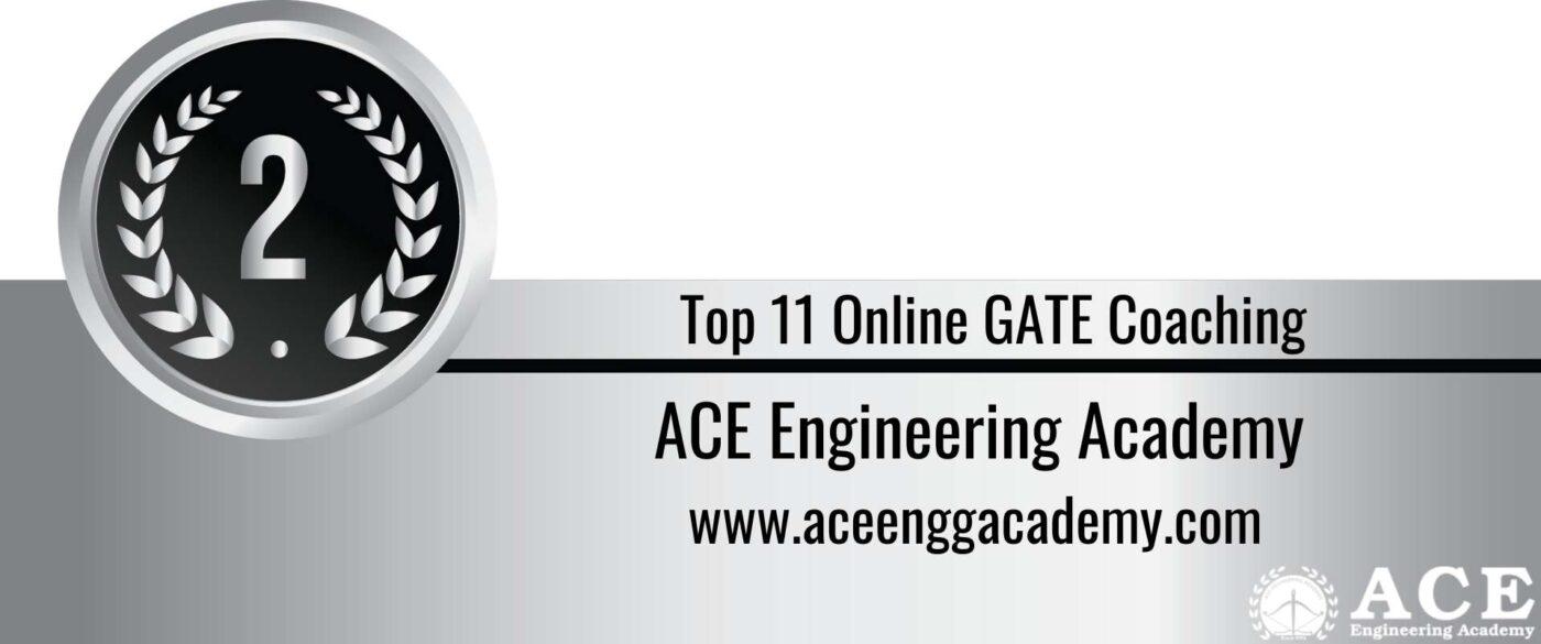 Rank 2 Top 11 Online GATE coaching