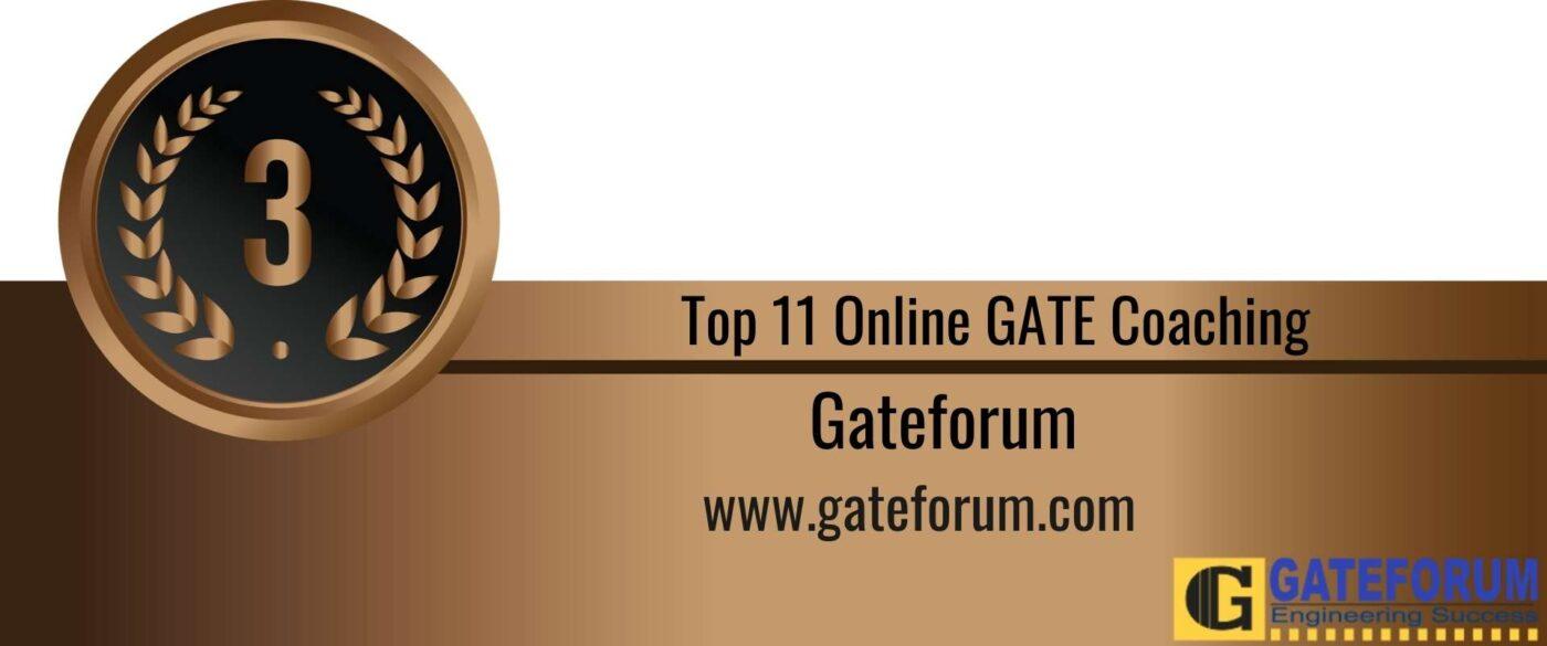 Rank 3 Top 11 Online GATE coaching
