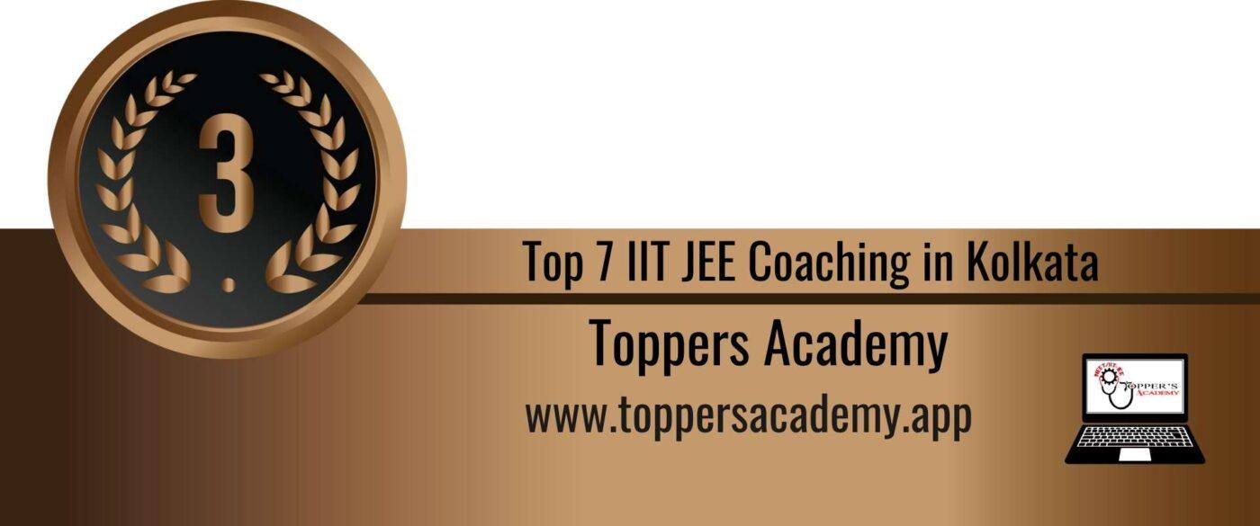 Rank 3 Top 7 IIT JEE Coaching in Kolkata