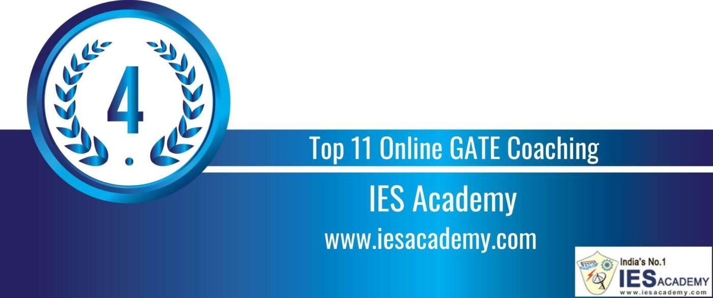 Rank 4 Top 11 Online GATE coaching