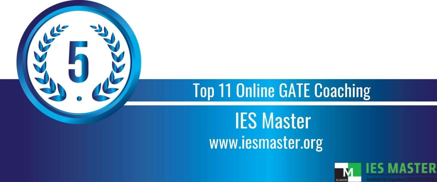 Rank 5 Top 11 Online GATE coaching