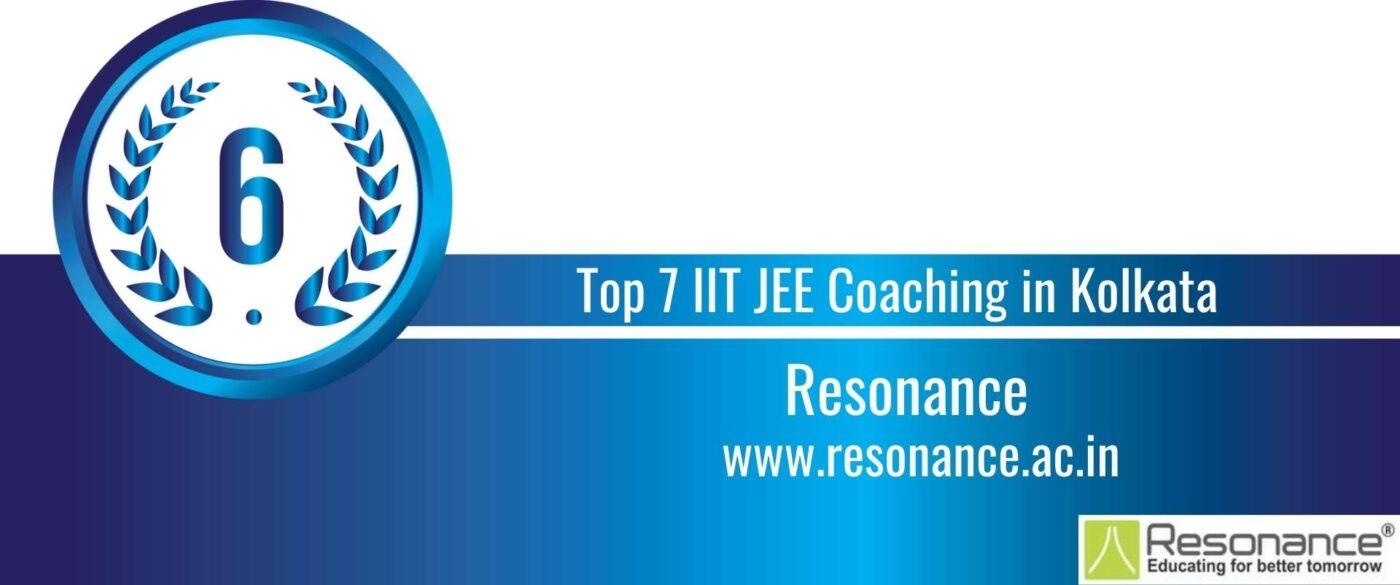Rank 6 Top 7 IIT JEE Coaching in Kolkata