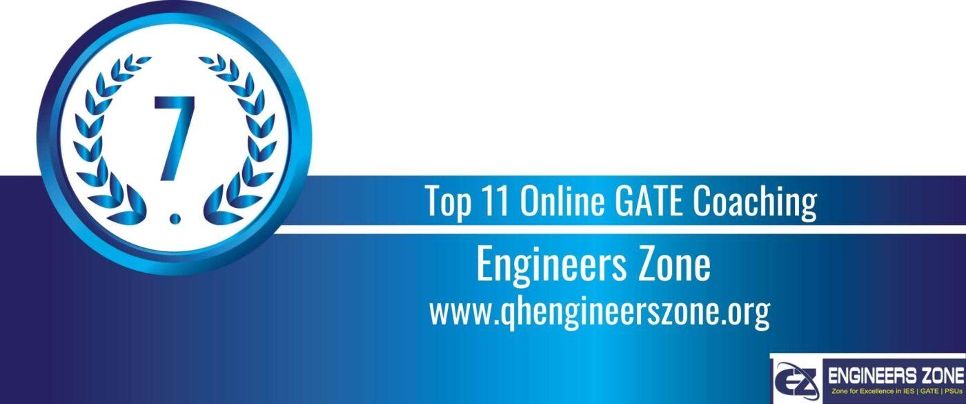 Rank 7 Top 11 Online GATE coaching