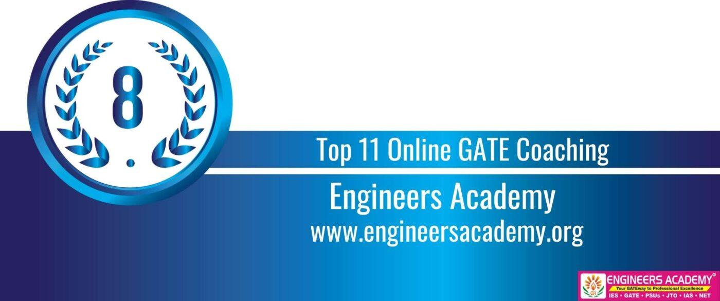 Rank 8 Top 11 Online GATE coaching