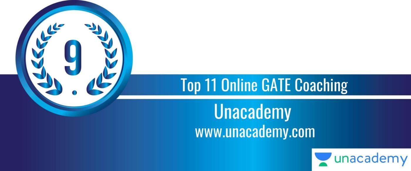 Rank 9 Top 11 Online GATE coaching