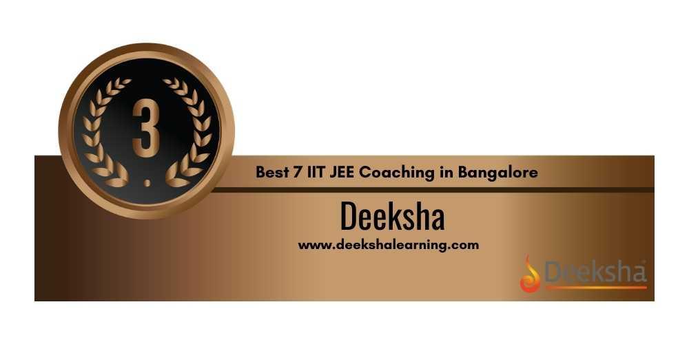 IIt Coaching in Bangalore Rank 3