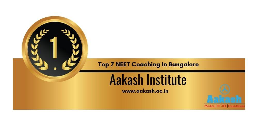 NEET Coaching in Bangalore Rank 1