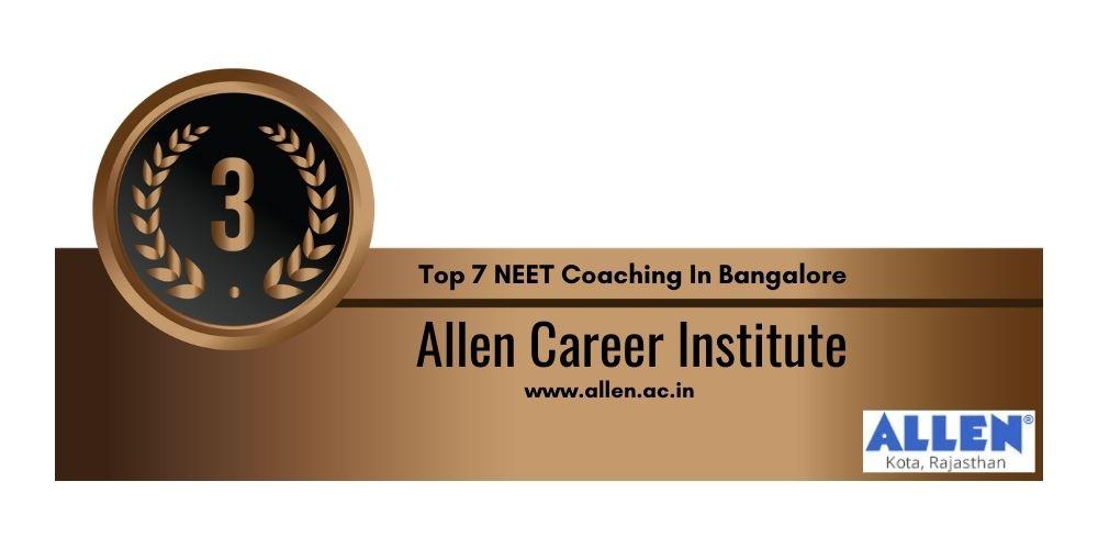 NEET Coaching in Bangalore Rank 3