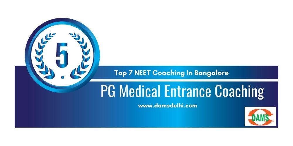 NEET Coaching Centres in Bangalore Rank 5