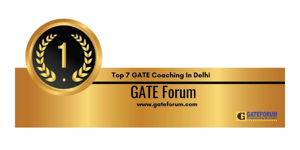 Rank 1 GATE Coaching In Delhi