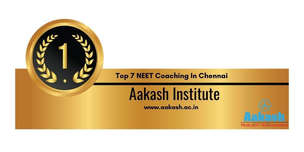 Rank 1 NEET Coaching In Chennai