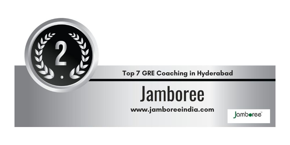 Rank 2 in 7 GRE Coaching centers in Hyderabad