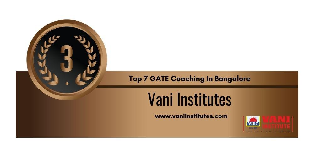Rank 3 GATE Coaching In Bangalore